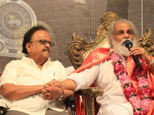 SPB performs Paadha Pooja to KJ Jesudas