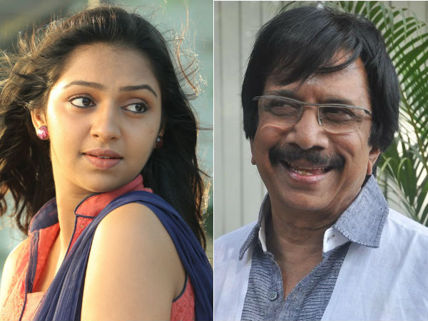 Chithra Lakshmanan plays Lakshmi Menon's father