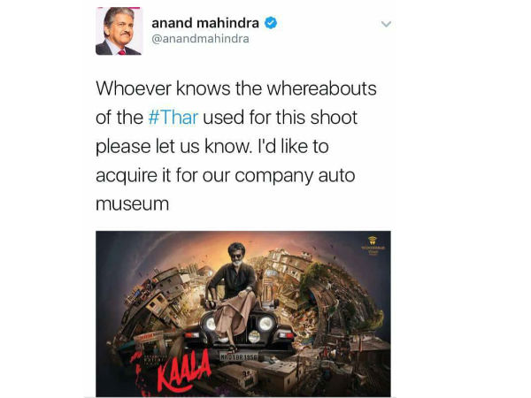 Mahindra Motors wants to s keep Kaala Jeep at their Museum