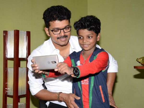 Vijay fulfills national award winner's wish
