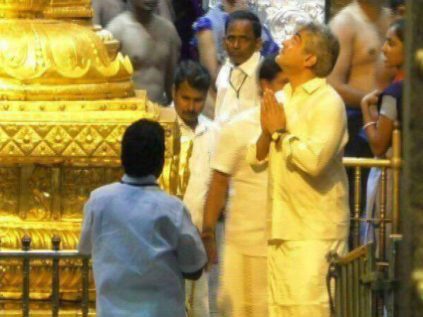 Ajith visits Tirupati temple