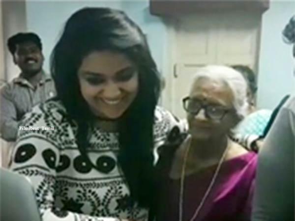 87 வயசு சாருஹாஸனுக்கு ஜோடியாக நடிக்கும் கீர்த்தி சுரேஷ் பாட்டி!