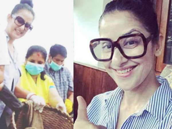 Actress who directly helps flood victims