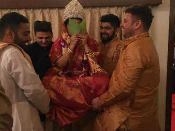 கர்ப்பமாக இருப்பதால் தான் காதலரை அவசரமாக ரகசிய திருமணம் செய்தாரா நடிகை?