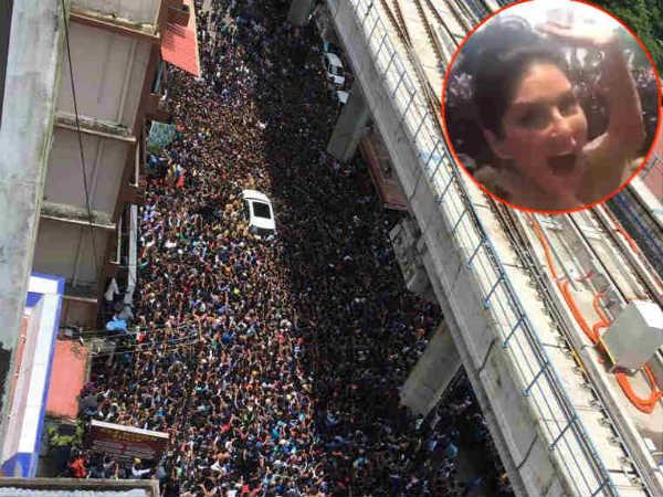சன்னி லியோன் 'தரிசனம்'... திக்கு முக்காடிய கொச்சின்!