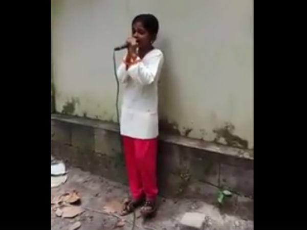 தெருவில் சிறுமி பாடிய வீடியோ வைரல் - தேடிப்பிடித்து வாய்ப்பளித்த நடிகர்!
