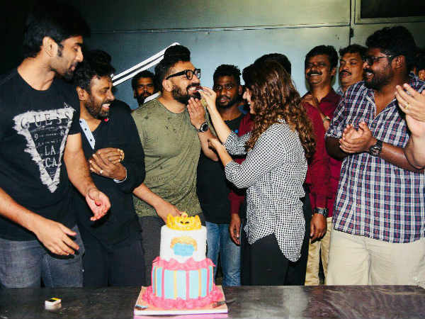 Nayanthara celebrated her birthday with Adharva