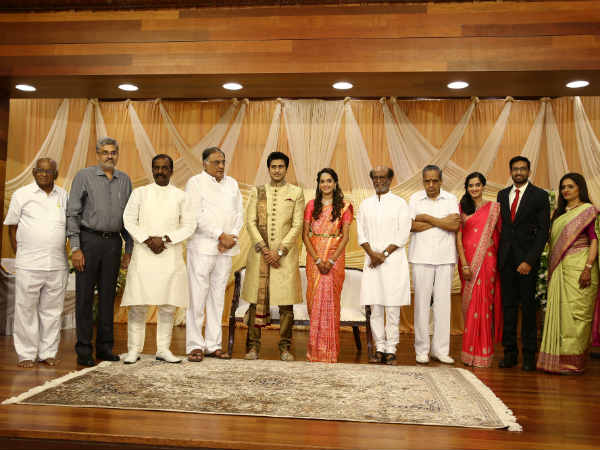 Rajinikanth attends AVM family marriage