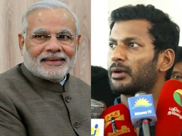 Nomination issue: Vishal complains to Modi, president