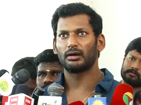 Cinema celebrity warns vishal team
