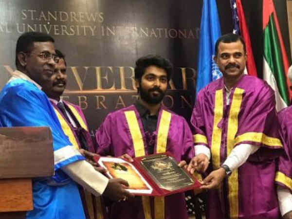 GV Prakash getting proud for social services
