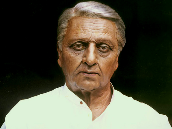 A special make up for kamal hassan in indian 2 movie.