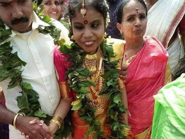 பெற்றோர் ஆசியுடன் மிமிக்ரி கலைஞரை மணந்த வைக்கம் விஜயலட்சுமி