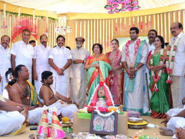 சவுந்தர்யா ரஜினிகாந்தை மணந்த விசாகன்: முதல்வர் வந்தாக, கமல் வந்தாக, தனுஷ் வந்தாக, இன்னும்...