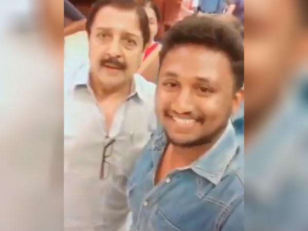 சிவகுமாருடன் செல்ஃபி எடுத்த வாலிபர்: வைரல் வீடியோ