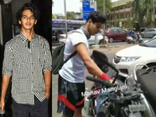 Ishaan Khatter fined for leaving bike in no parking zone