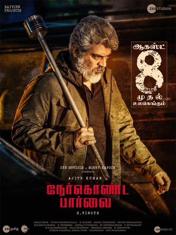Nerkonda parvai is releasing on August 8th
