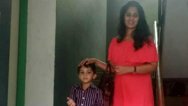 Ajith sons photo is viral in social medias