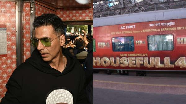 #Housefull Express ரயிலில் சென்ற படக்குழு - ஒரே கல்லில் ரெண்டு மாங்கா