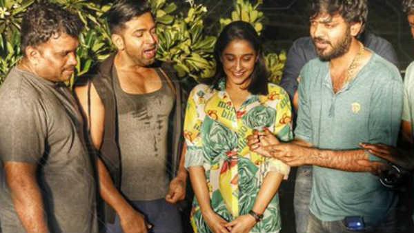 அருண் விஜய்யுடன் கேக் வெட்டி பிறந்த நாளை கொண்டாடிய ரெஜினா கசாண்ட்ரா!