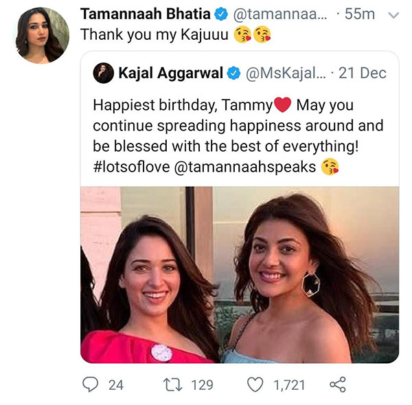 tamanna delayed reply