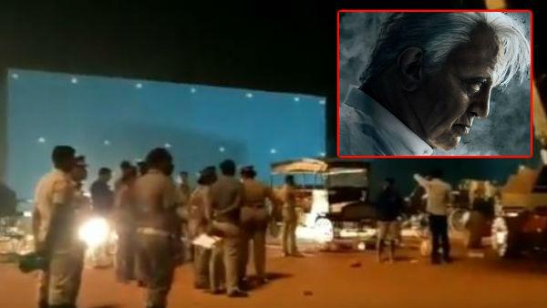 'இந்தியன் 2' படப்பிடிப்பில் கிரேன் விழுந்து விபத்து... 3 பேர் பலியான சம்பவம்... நடந்தது என்ன?