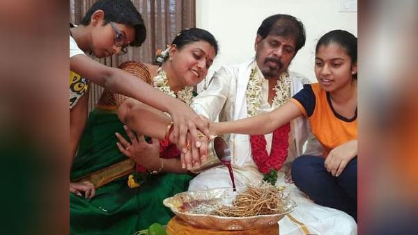 கொரோனாவை விரட்ட ருத்ராபிஷேகம்.. குடும்பத்துடன் நடிகை ரோஜா ஆர்கே செல்வமணி நடத்திய சிறப்பு யாகம்!