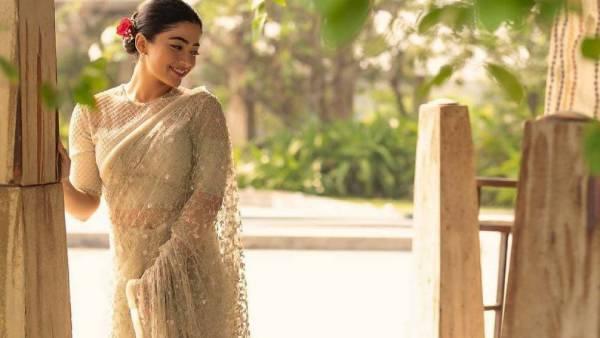 16 வயதினிலே ஸ்ரீதேவி மாதிரி .. சைட் ரோஸில் வெட்கப்பட்ட ரஷ்மிகா!