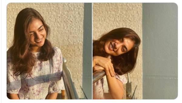 வெயிலை உற்சாகமாக வரவேற்ற நஸ்ரியா... ரசிகர்களை வென்ற சிரிப்பு!