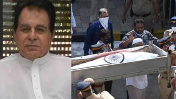மூவர்ண கொடி போர்த்தி முழு அரசு மரியாதையுடன் நல்லடக்கம்.. விடைபெற்றார் திலீப் குமார்! | National Flag draped over Dilip Kumar
