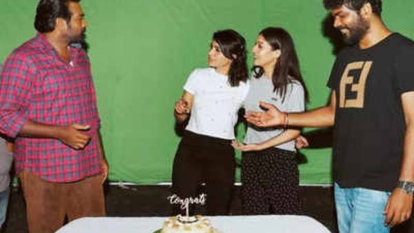 சிறந்த நடிகையாக சமந்தா தேர்வு… கேக் வெட்டி கொண்டாடிய விஜய் சேதுபதி, நயன்தாரா!