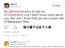 நீங்க சூப்பர் ஸ்டார் தான், தெரியாமல் சொல்லிட்டேன்: மன்னிப்பு கேட்ட 'சேட்டை' நடிகர்