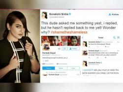 Sonakshi Sinha Shut This Pervert On Twitter True Dabangg Style