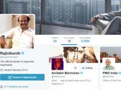 Rajini Follows Only One Politician On Twitter
