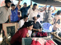Rajini Visits Dhanush S Vip 2 Sets