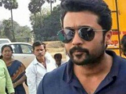 Suriya Visits Kadaikutty Singam Sets With Dev