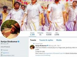 Suriya Crosses New Milestone On Twitter