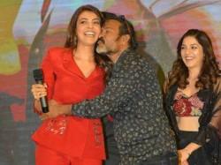 Cinematogrpaher Chota Naidu Kisses Kajal Agarwal