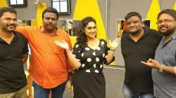 Vanitha Posts Photo With Bigg Boss Visual Editors