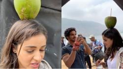 Ananya Pandey Coconut Balancing Video Goes Viral