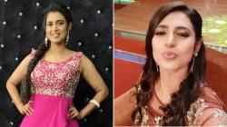 Actress Kasthuri Pink Color Dress Photos