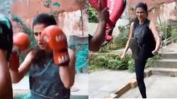 Actress Shruti Haasan Shares Her Fighting Video Goes Viral