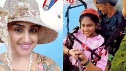 Vanitha Vijyakumar Goes For Para Gliding
