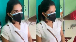 Actress Mahima Nambiar Gets Her Vaccination