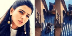 Samantha Jumping From A Roof Top Is Turning Heads Co Star Shares A Viral Stunt Video